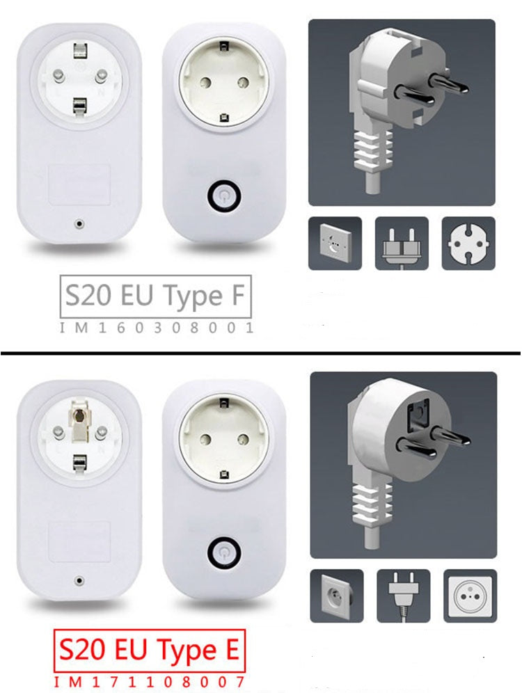 Hot Sonoff S20 Smart Home Charging Adapter Wireless Smart Switch ...