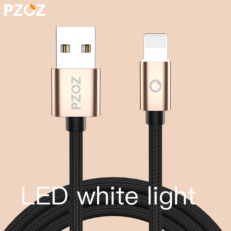 PZOZ for Lighting Cable Fast Charger Adapter Mobile Phone 8 Pin LED ...