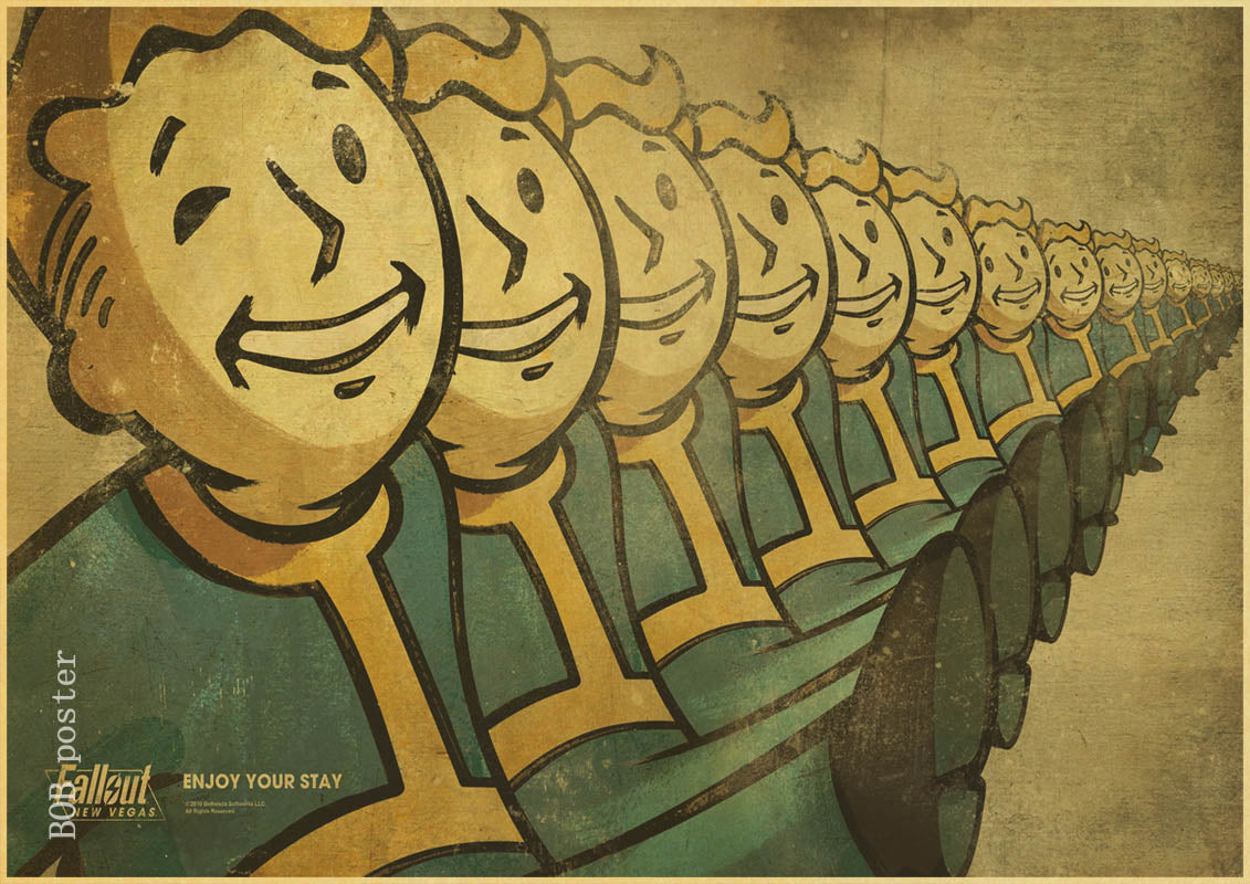 Vintage Posters Rock Fallout Game Anime Wall Home Decoration Retro ...
