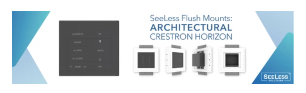 Flush Wall Mount Crestron