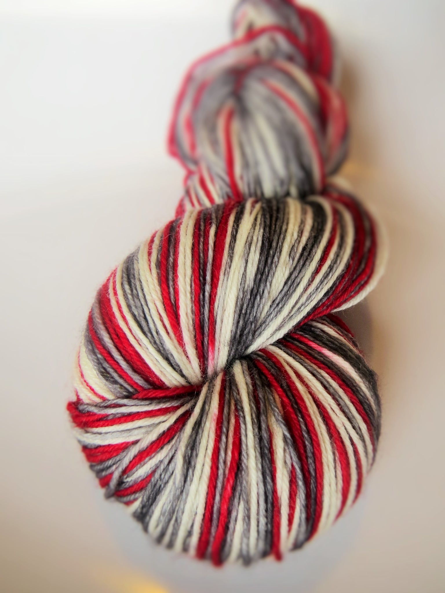 Sock Monkey Self-Striping Sock Wool