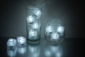 REVO white LED light up ice cubes with push button on/off.