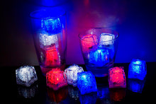 REVO USA Pack (RWB) Light Up Ice Cube - Best cube in the market - 12 pack - FREE SHIPPING