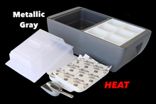 REVO insulated flameless chafer and beverage tub for food tray warming and chilled beverage displays.