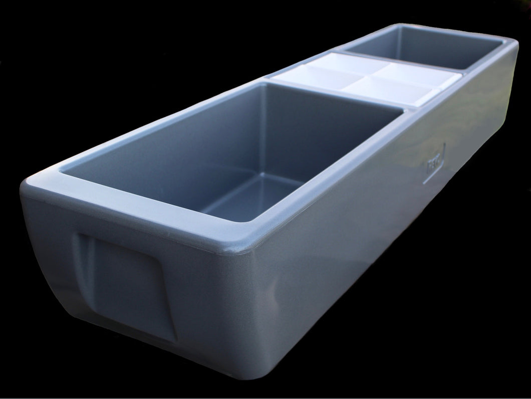 REVO Party Barge Beverage Tub  (Metallic Gray) - FREE SHIPPING