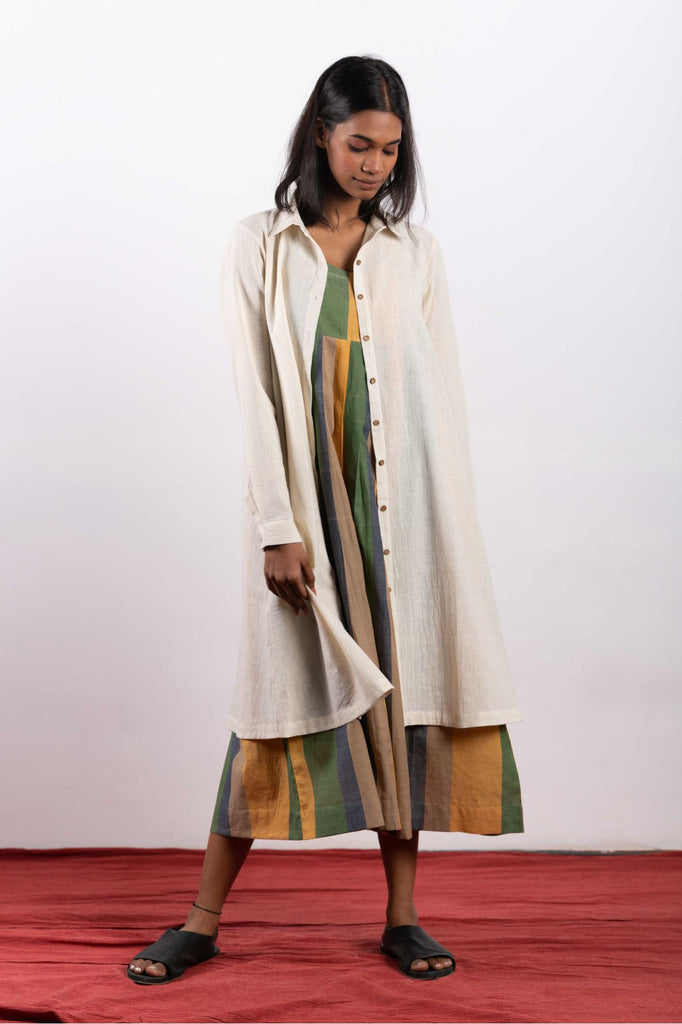 crow sustainable clothing made from handwoven fabrics, practices conscious living.