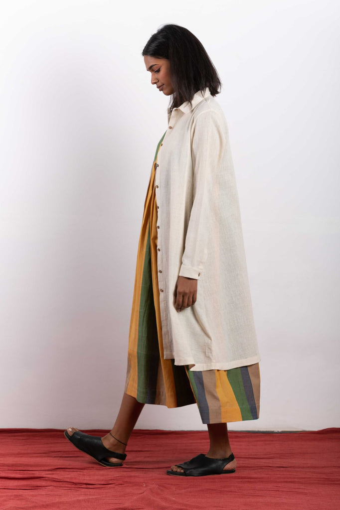 Eco fashion clothing made using 100% cotton fabrics and natural dye.