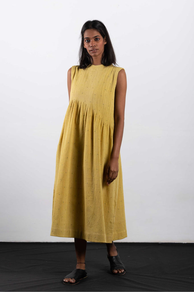 Dresses made from sustainable fabrics, using eco-friendly practices.