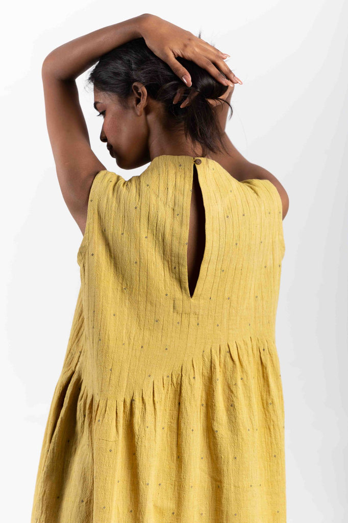 Organic fair trade clothing made from handwoven textiles.