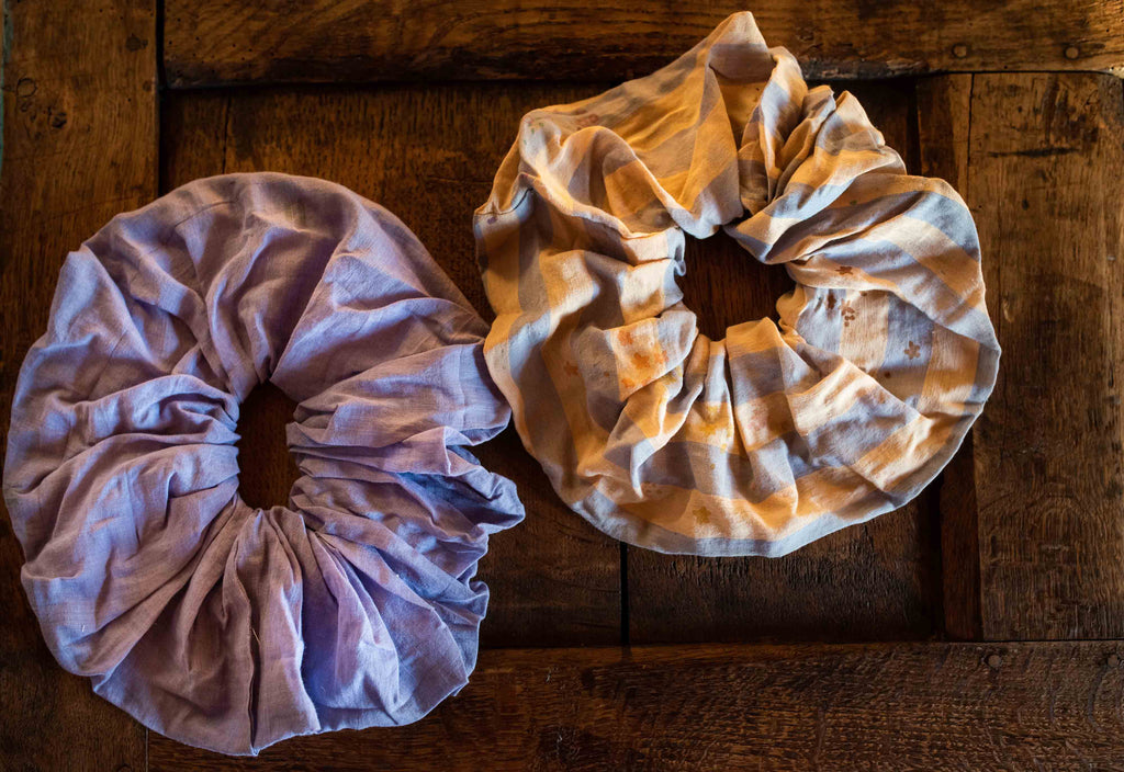 Pack of two cotton cloud scrunchies