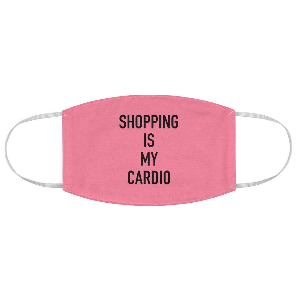 Shopping is my Cardio Cherry Fabric Face Mask