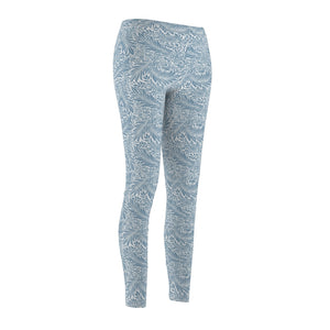 Leggings in Beautiful William Morris Willow Pattern - Blue