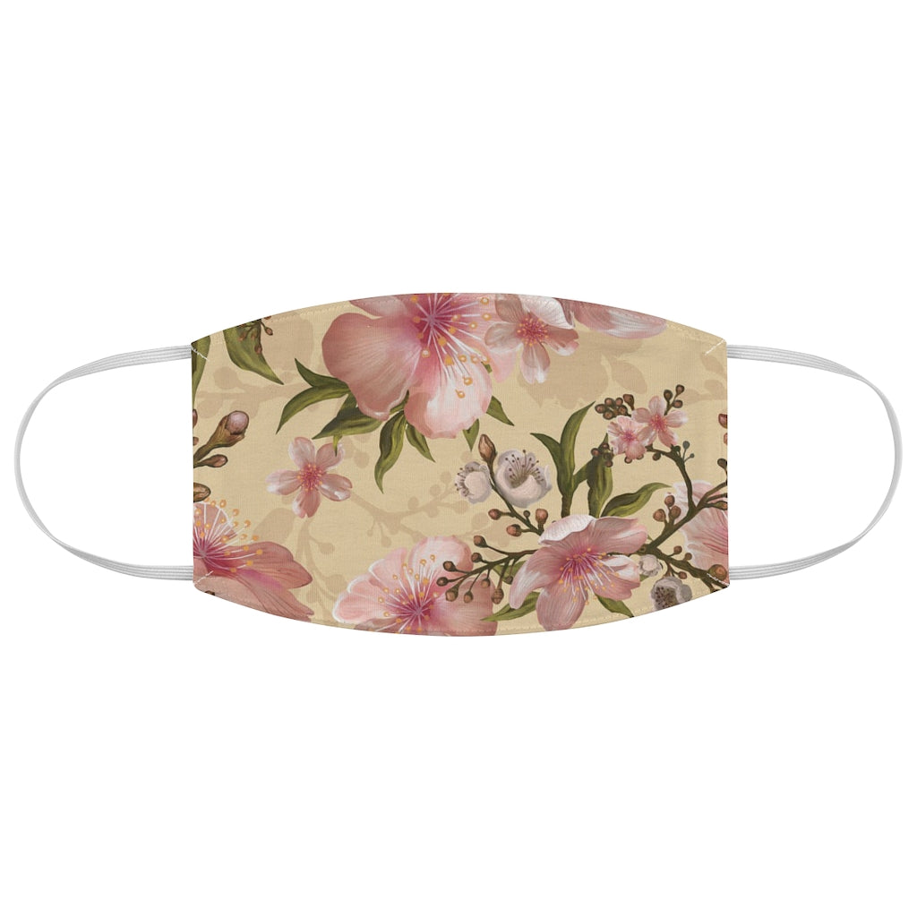 Pastel Prettiness Island Flowers Fabric Face Mask