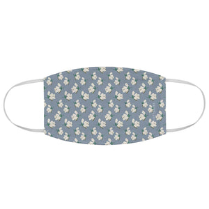 Designer Inspired Snowdrop Floral Fabric Face Mask