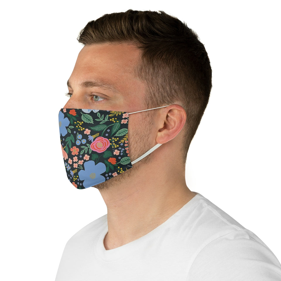 Rifle Paper Co. Inspired Forget-me-not Pattern Fabric Face Mask