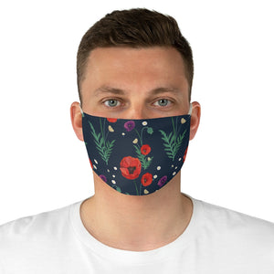 Pretty Poppy Fabric Face Mask