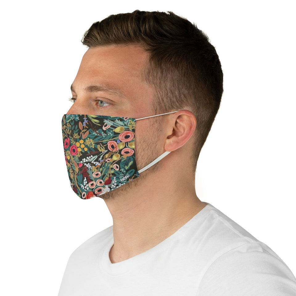 Rifle Paper Co. Inspired Multi Floral Pattern Fabric Face Mask