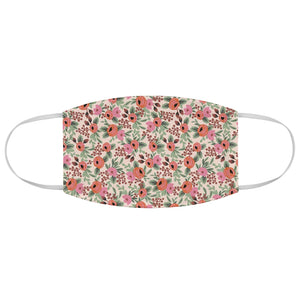 Rifle Paper Co. Inspired Cream + Pink Floral Fabric Face Mask