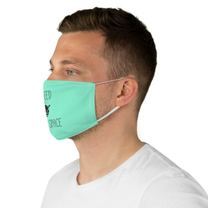 Socially Distant Fabric Face Mask - Aqua