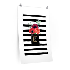 Perfume Ink Stripes Premium Matte vertical posters
