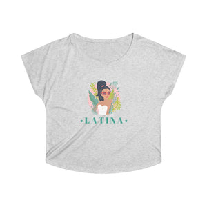Latina Vintage Women's Loose Trendy Fit T-shirt | Trendy Vintage Fit Tee | Loose Fit T-Shirt Flatters any Shape