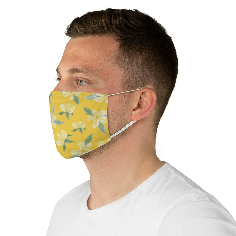 Beautiful Monoi Flower Pattern Fabric Face Mask