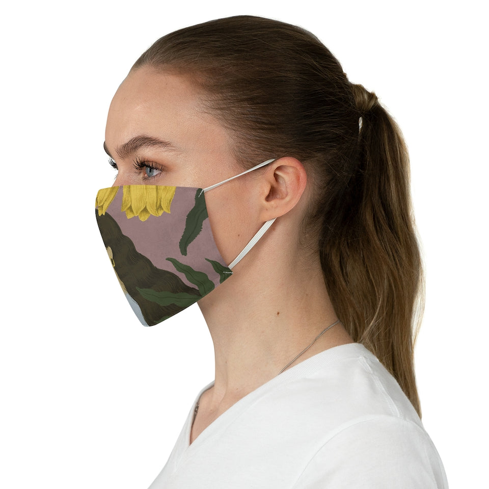 Bask in Nature Fabric Face Mask