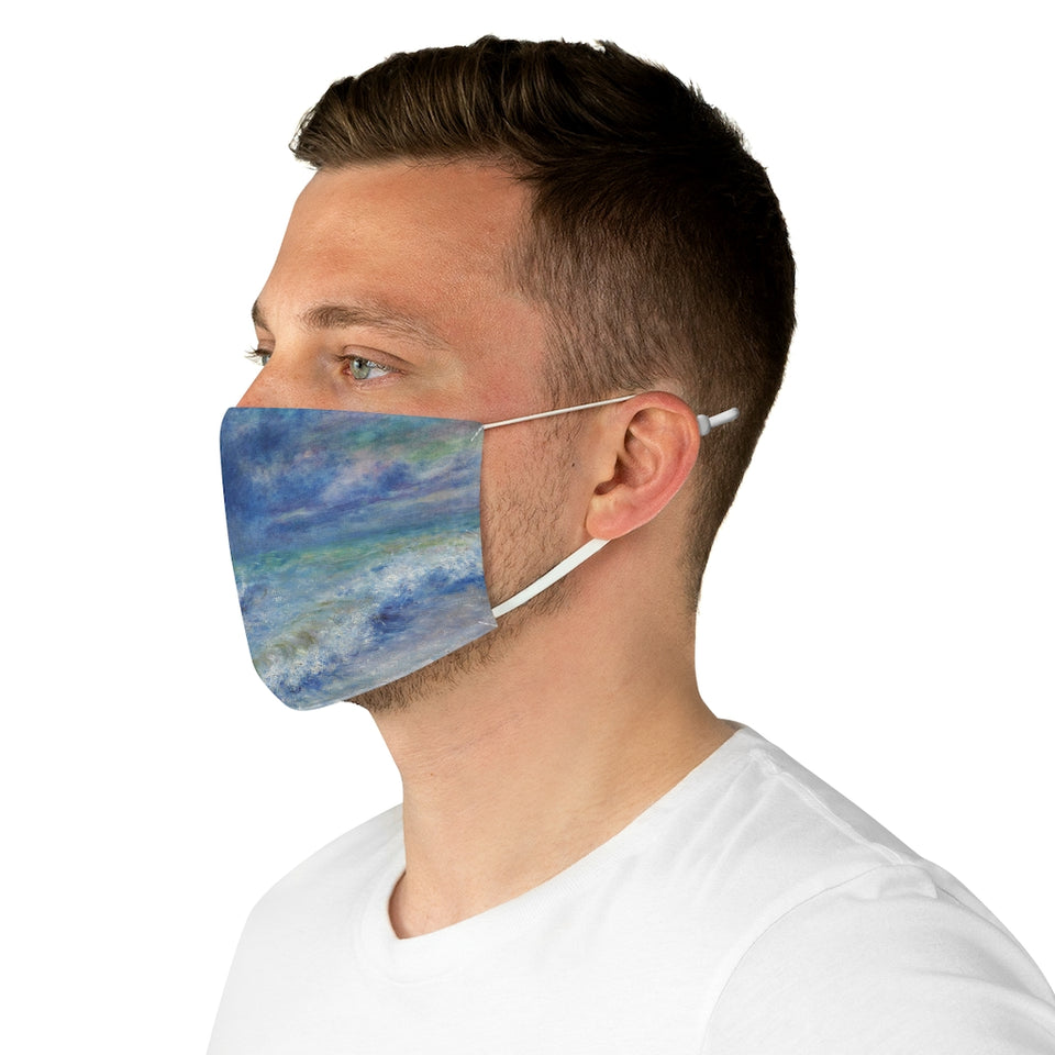 The Sea by Renoir Fabric Face Mask
