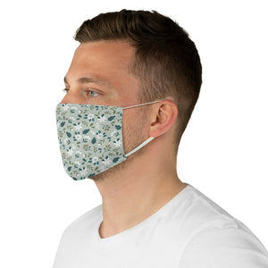 Sage Green Ditzy Floral Fabric Face Mask
