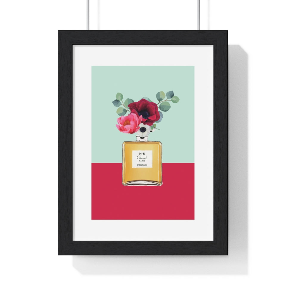 Perfume Bottle 1 - Premium Framed Vertical Poster
