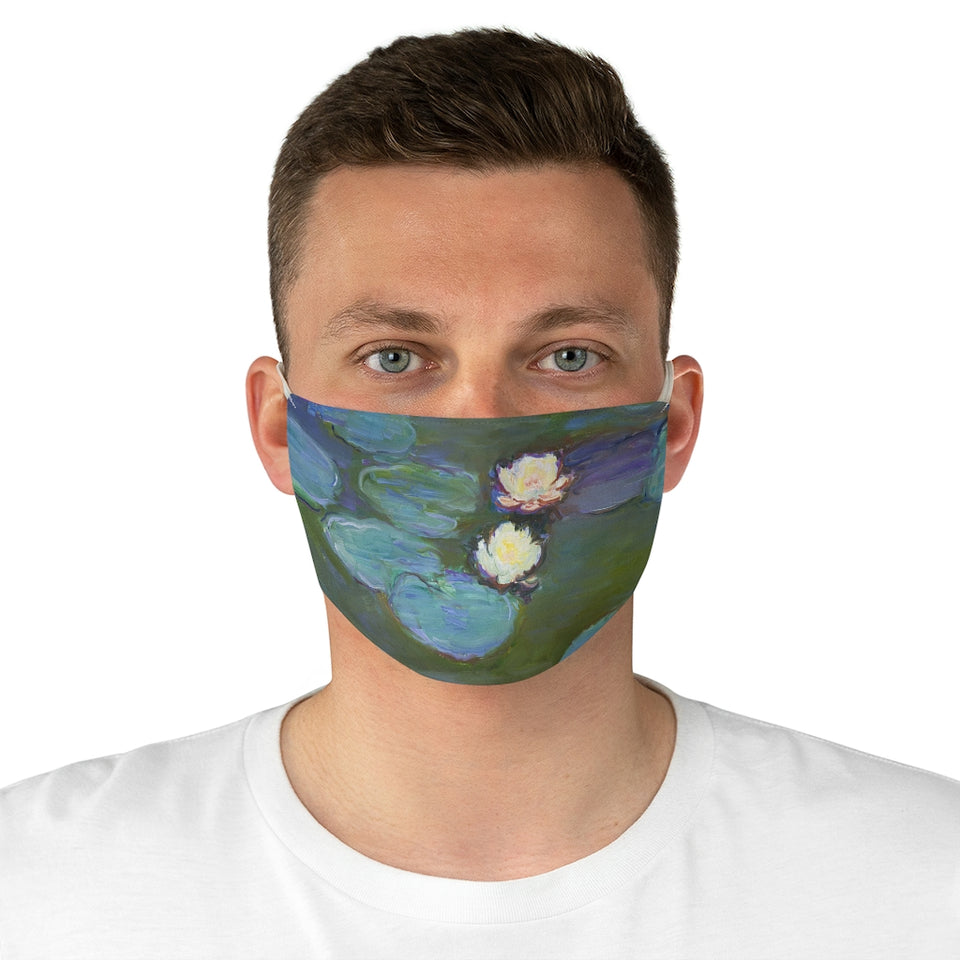Waterlillies by Monet Fabric Face Mask