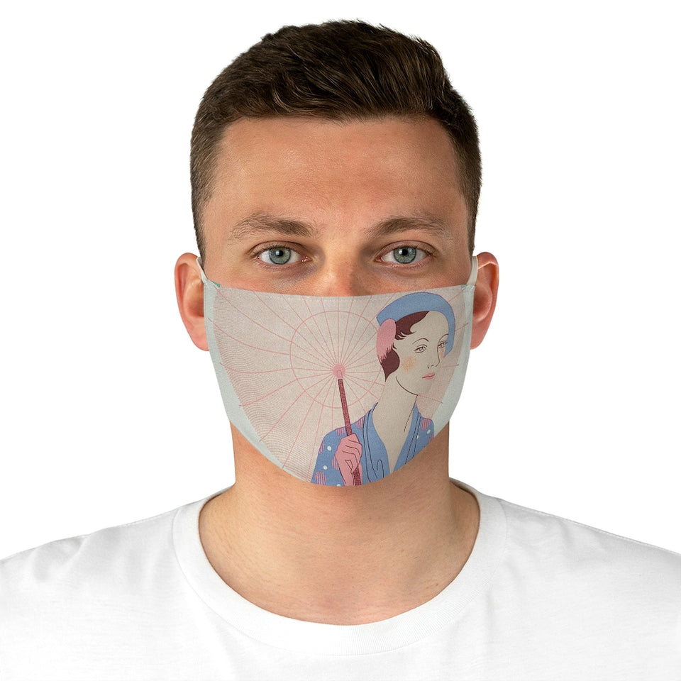 Elegant Lady Fabric Face Mask
