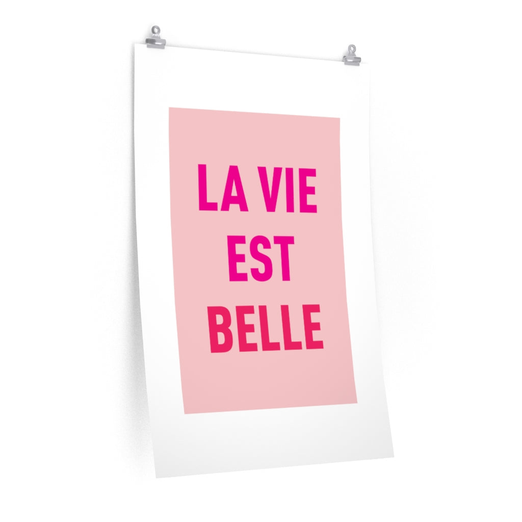 Quote Belle Premium Matte vertical posters