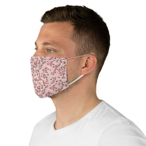 Cherry Blossom Ditzy Print Pattern Fabric Face Mask
