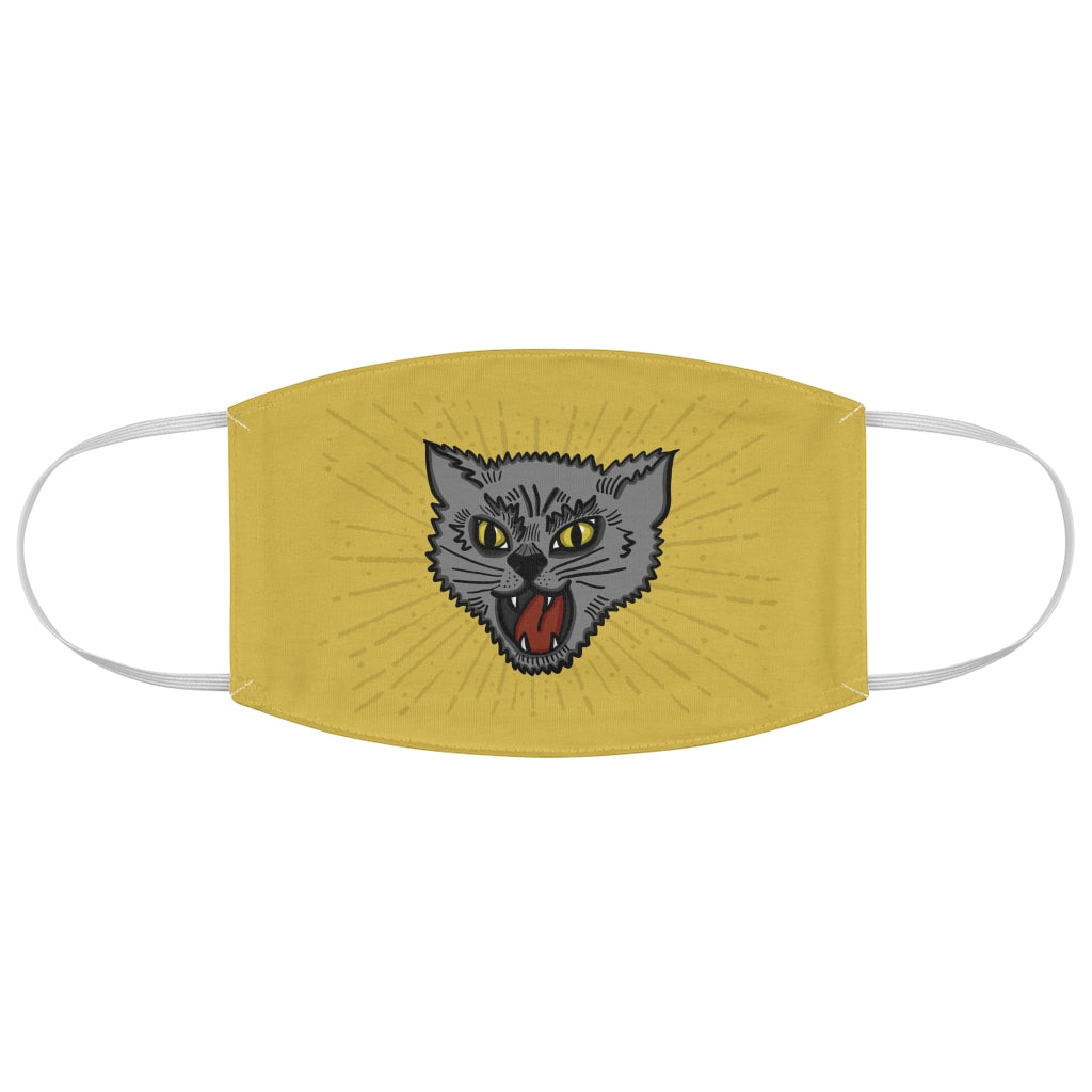 Hear me Roar Angry Kitty Fabric Face Mask