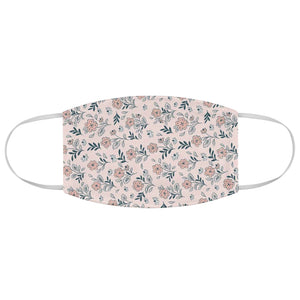 Designer Inspired Pink Flowers Fabric Face Mask