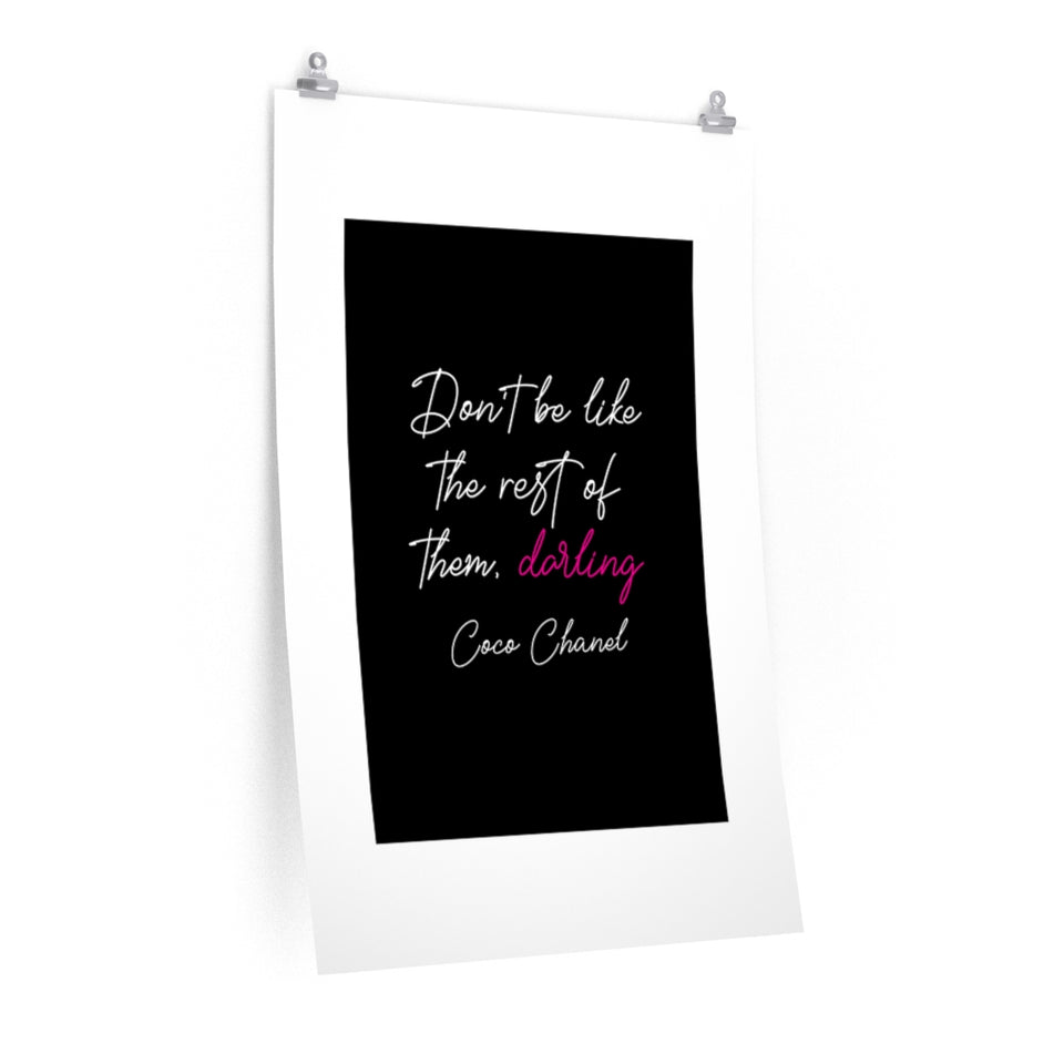Quote Oh Darling Premium Matte vertical posters