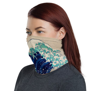 Japanese Wave Print Neck Gaiter