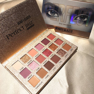 Perfixt Beauty 18 Color Nude Shimmer Eyeshadow Palette - Glitter Pigment Smoky Eye Shadow Pallete