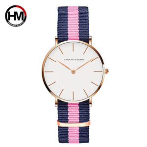 Classic Quartz Movement Canvas Strap Wristwatch - Lola + Bronte