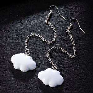 Cute Simple Cloud Earrings with Chain