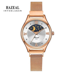 Luxury Ladies Swiss Moon and Stars Quartz Watch - Lola + Bronte