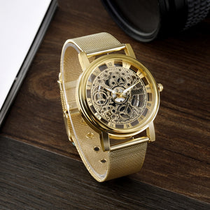Fashion SOXY Watch Silver & Golden Luxury Hollow Steel Watch