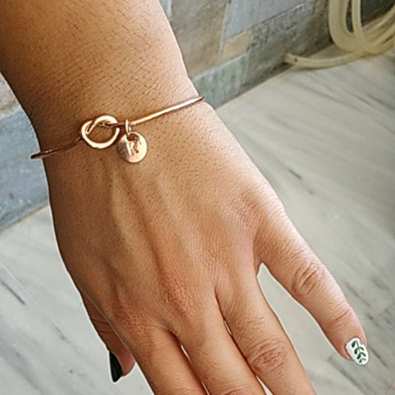 Personalized Initial Knot Bracelet - Lola + Bronte