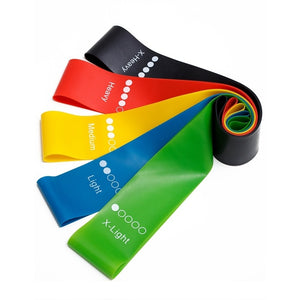 Yoga and Pilates Resistance Rubber Bands 0.35mm-1.1mm Workout Elastic Bands