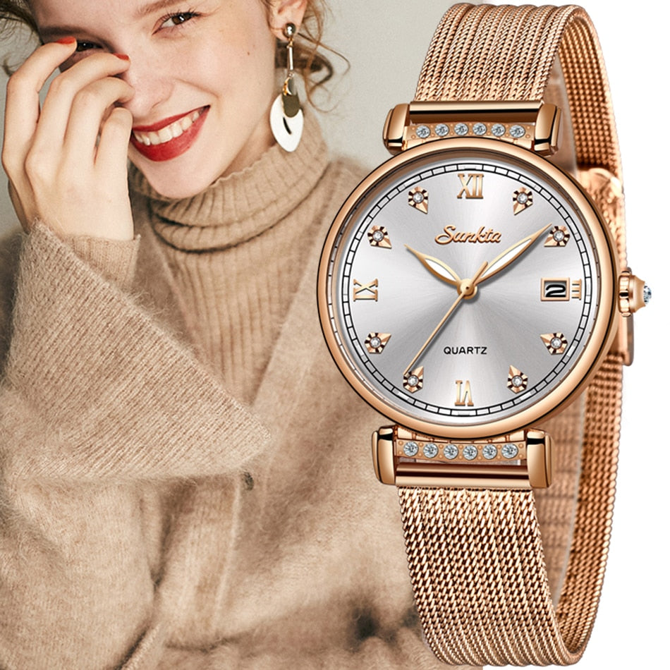 Charlotte Rose Gold Quartz Watch