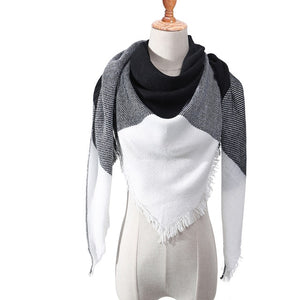 Soft & Warm Plaid Cashmere Blend Luxury Scarf
