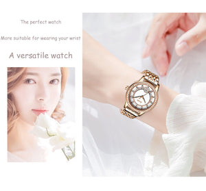 Genevieve Luxury Crystal and Rose Gold Watch