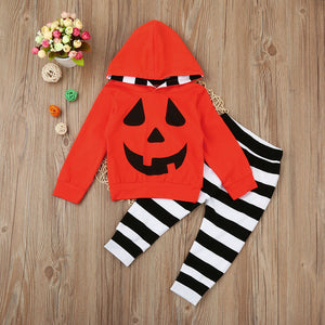 Baby Pumpkin Hooded Halloween Costume - Lola + Bronte
