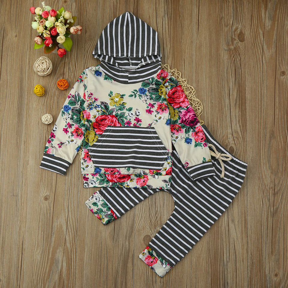 Girls Floral Hoodie and Pants - Lola + Bronte